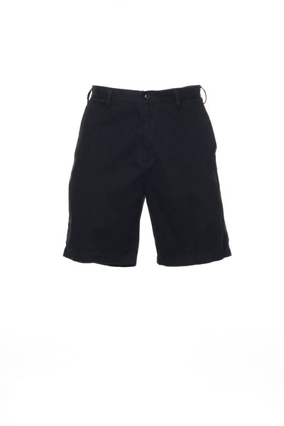 The Deck Short by Nautica Mens Black Flat Front Walking Shorts