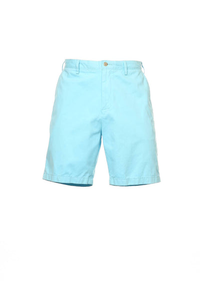 The Deck Short by Nautica Mens Aqua Flat Front Walking Shorts