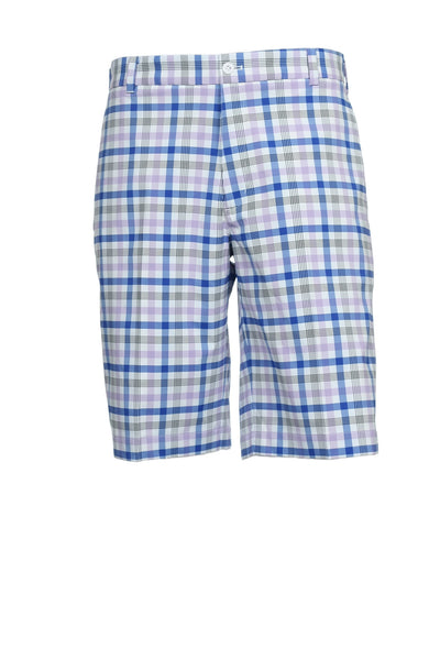 Nike Golf Mens Light Purple Plaid Flat Front Walking Shorts