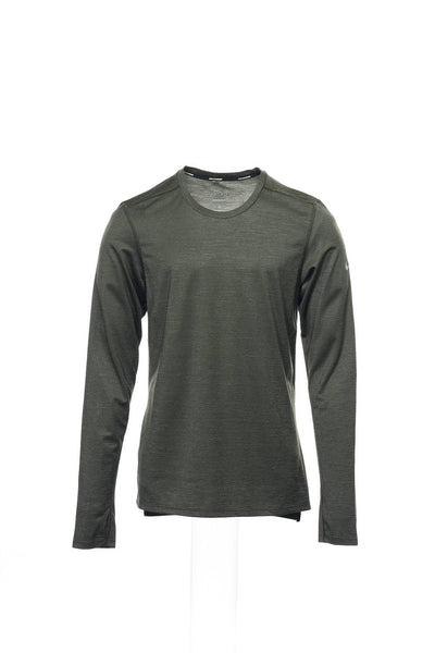 Nike Mens Olive Green Micro Striped T-Shirt