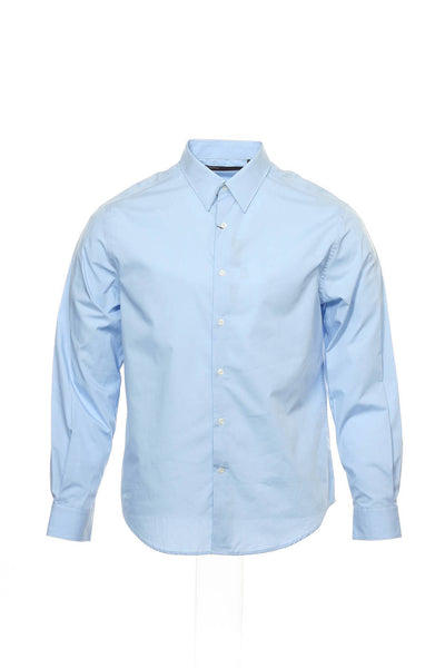 Perry Ellis Mens Light Blue Button Down Shirt