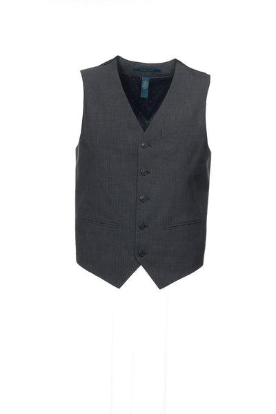Perry Ellis Mens Gray Pinstripe Suit Vest