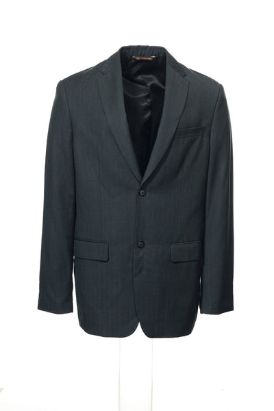 Perry Ellis Mens Gray Pinstripe Blazer