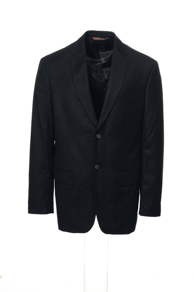 Perry Ellis Mens Black Pinstripe Blazer