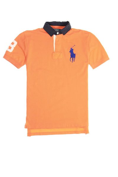 Polo by Ralph Lauren Mens Orange Rugby Shirt