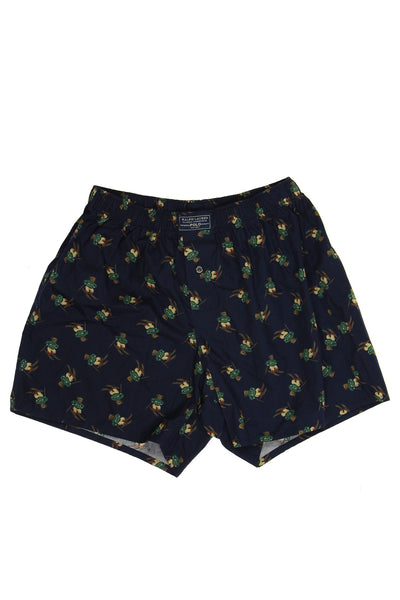 Polo by Ralph Lauren Mens Blue Graphic Boxers