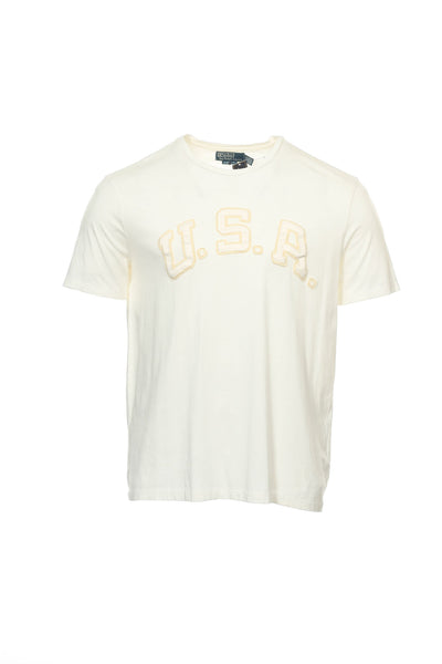 Polo by Ralph Lauren Mens Ivory T-Shirt
