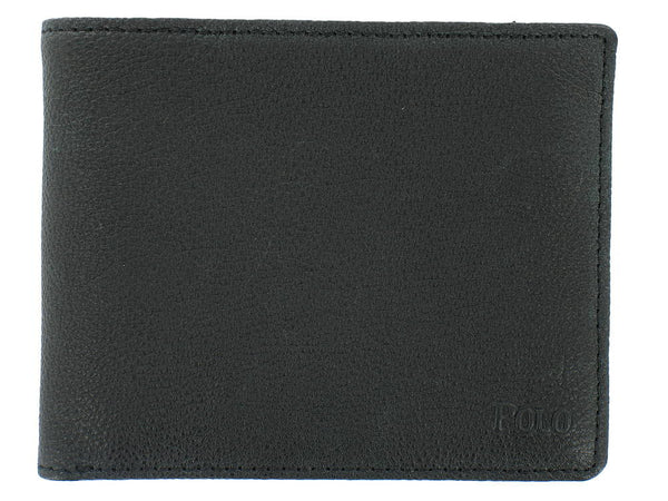 Polo by Ralph Lauren Mens Black Bi-Fold Wallet