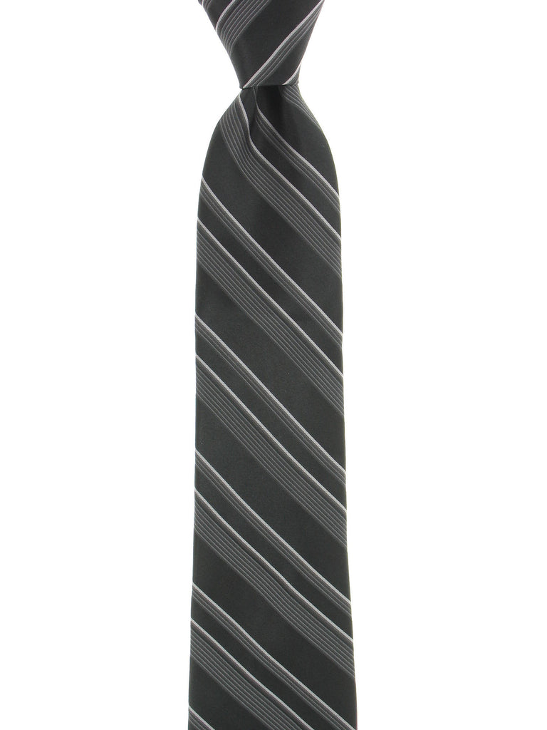 Ryan Seacrest Distinction Mens Black Striped Tie