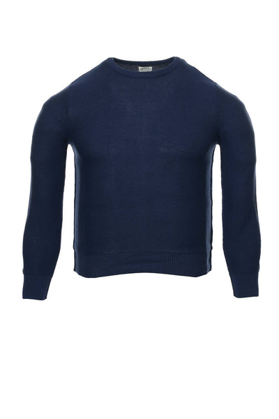 Threads & Heirs Mens Blue Crew Neck Sweater