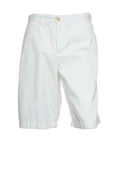 Tommy Hilfiger Mens White Flat Front Walking Shorts
