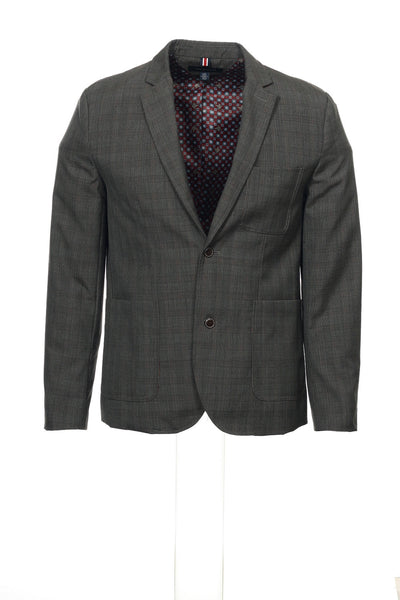 Tommy Hilfiger Mens Multi-Color Window Pane Blazer