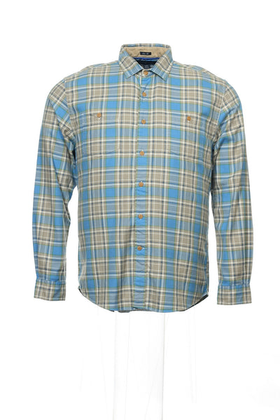 Tommy Hilfiger Mens Multi-Color Plaid Button Down Shirt