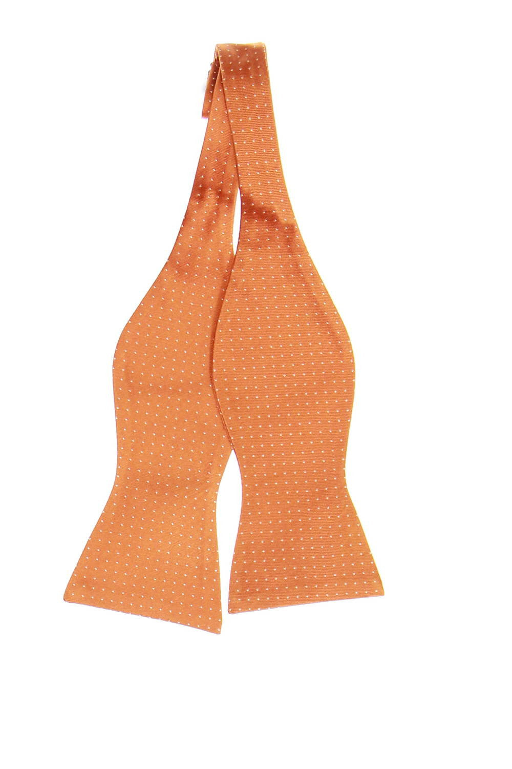 Tommy Hilfiger Mens Orange Dotted Bow Tie
