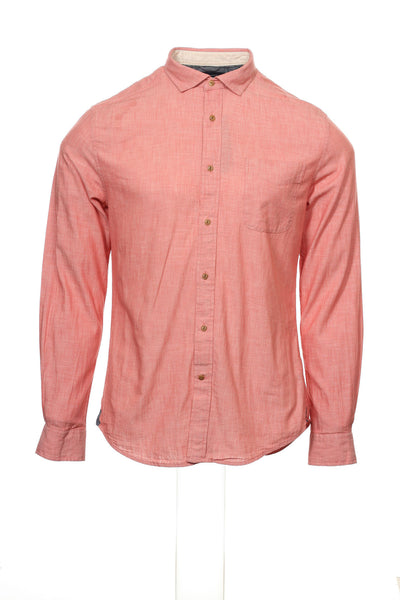 Tommy Hilfiger Mens Red Heather Button Down Shirt