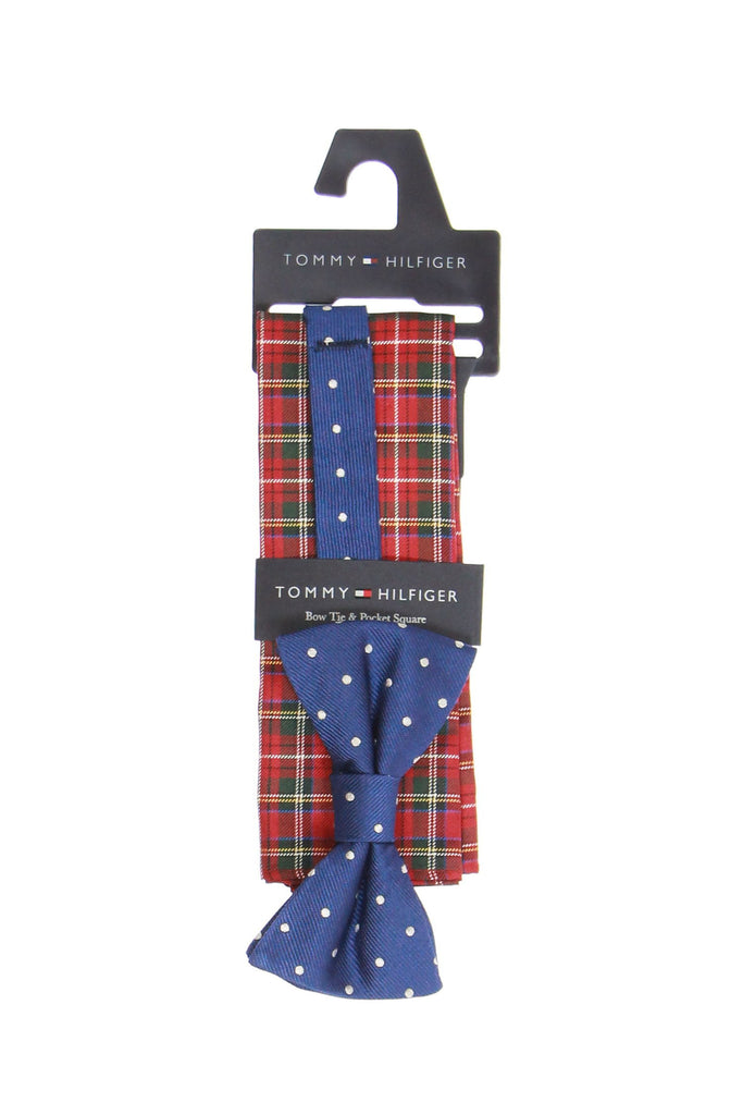 Tommy Hilfiger Mens Blue Dotted Box Set Tie