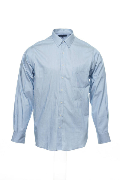 Tommy Hilfiger Mens Blue Pinstripe Button Down Shirt