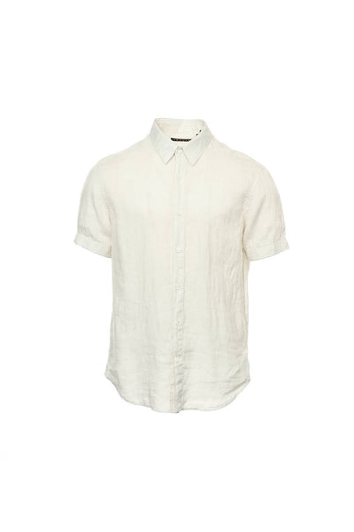Theory Mens Ivory Heather Button Down Shirt