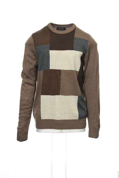 Tricots St Raphael Mens Brown Heather Crew Neck Sweater