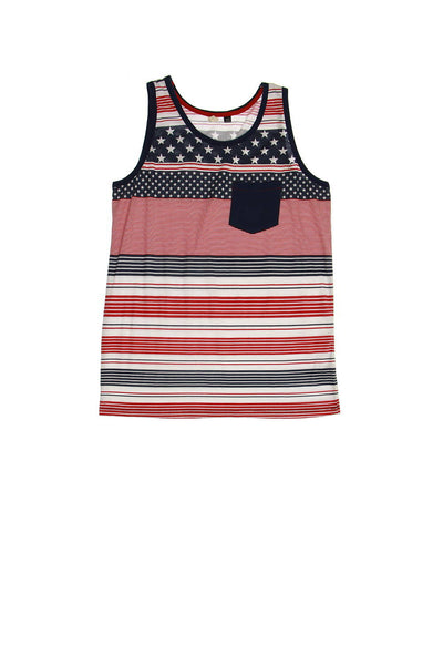 Univibe Mens Red Striped Tank Top