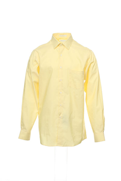 Royal Herringbone by Van Heusen Mens Light Yellow Button Down Shirt