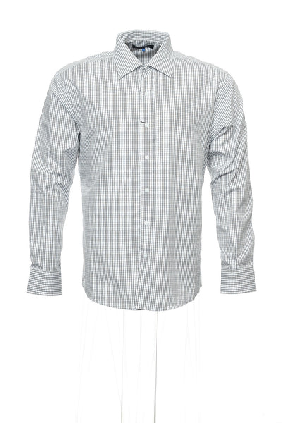 Vince Camuto Mens White Window Pane Button Down Shirt