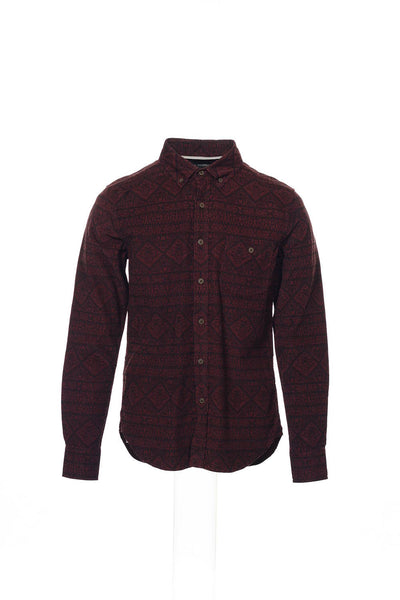 Zanerobe Men's Burgundy Paisley Button Down Shirt