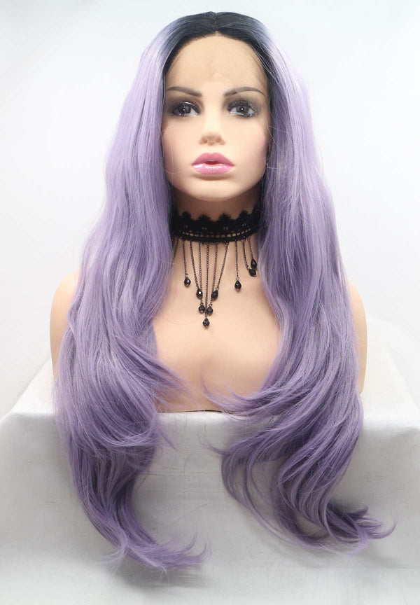 Mermaid Purple Makeup Lace Front Wig USW060