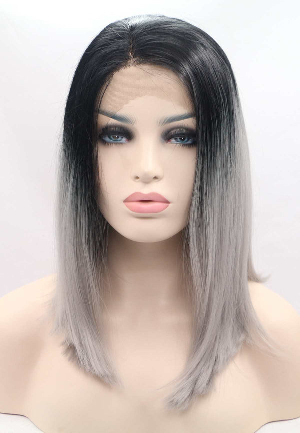 Ombre Black to Grey Bob USW111