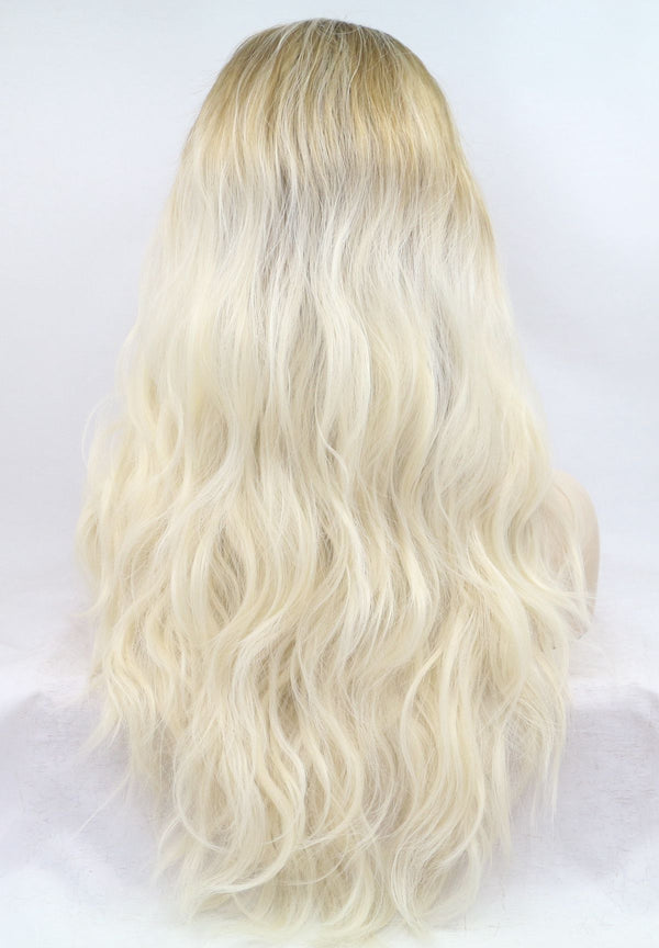 Bebe Curly Blonde Synthetic Lace Front Wig  USW100