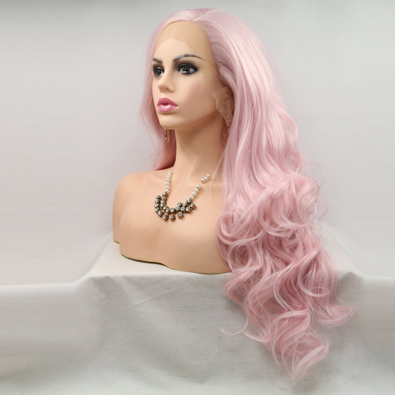 Honey Pink Synthetic Lace Front Wig USW044/USW045