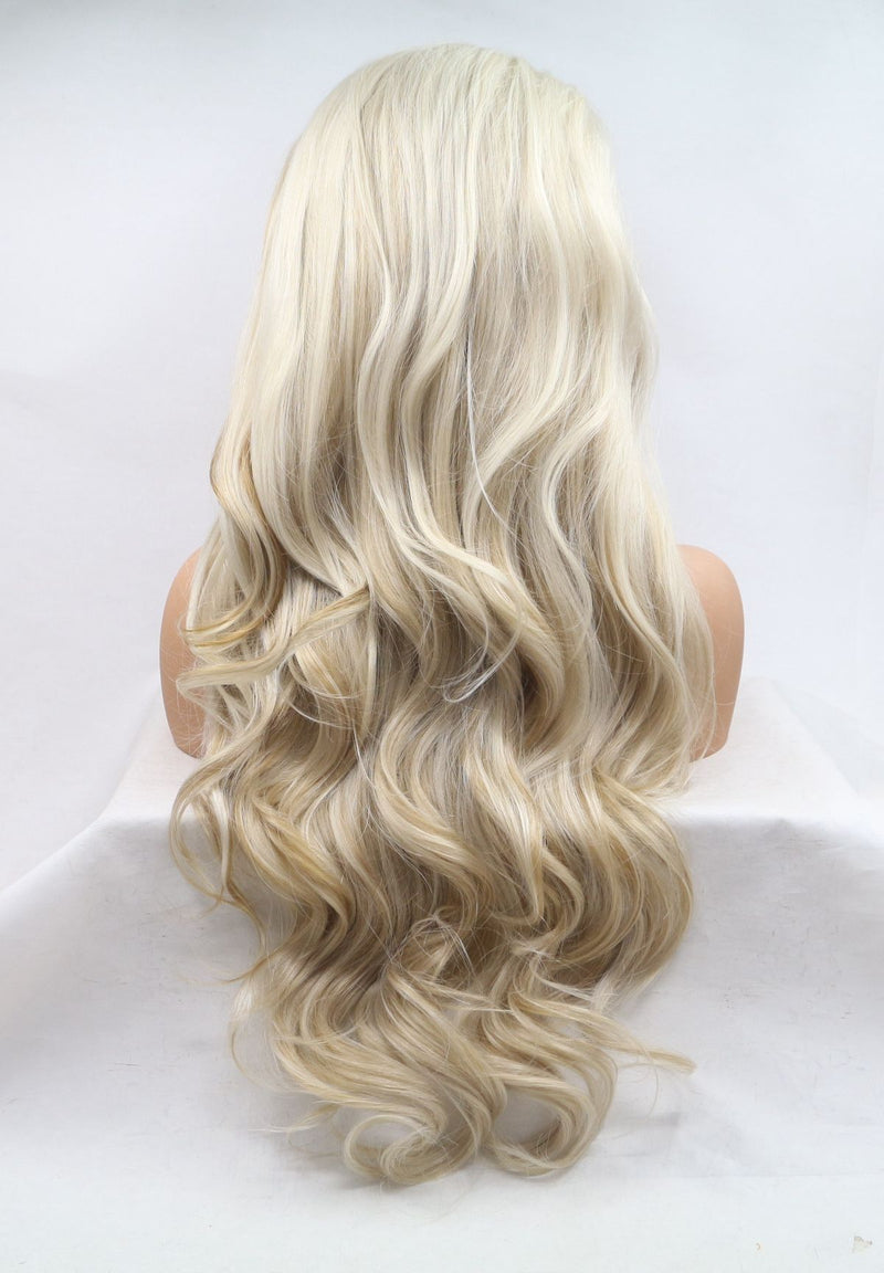Kyrene Wavy Synthetic Lace Front Wig USW048