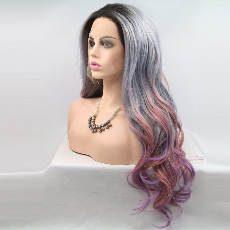 Undine Synthetic Lace Front Wig USW090