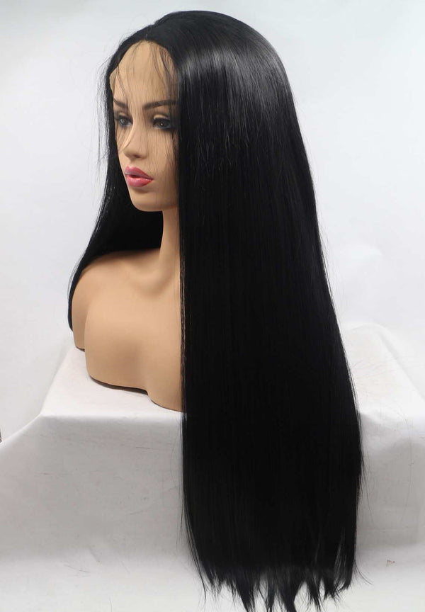 Black Straight Wig For African Girl 1B Hair USW019