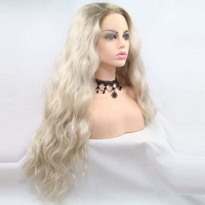 Long Blonde Wavy Wig USW055