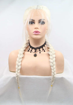 Light Blonde Double Braid Add Weaving USW053
