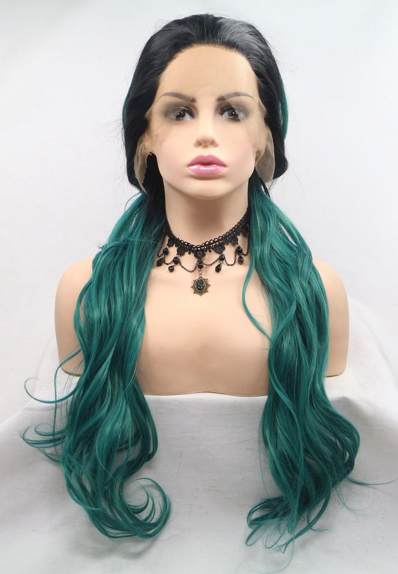 Sif Green Synthetic Lace Front Wig USW083