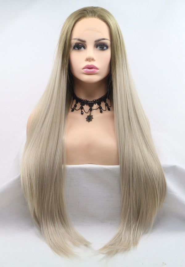Blonde Silky Straight Lace Front Wig USW022