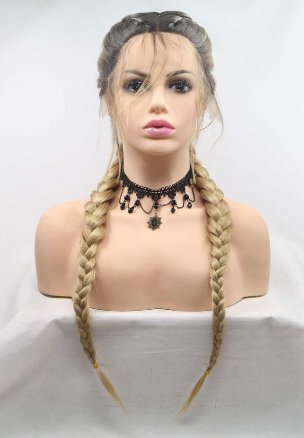 Blonde Double Braid Add Weaving USW021