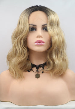 Alice Blonde Short Curly Wig Synthetic Bob Wig USW05