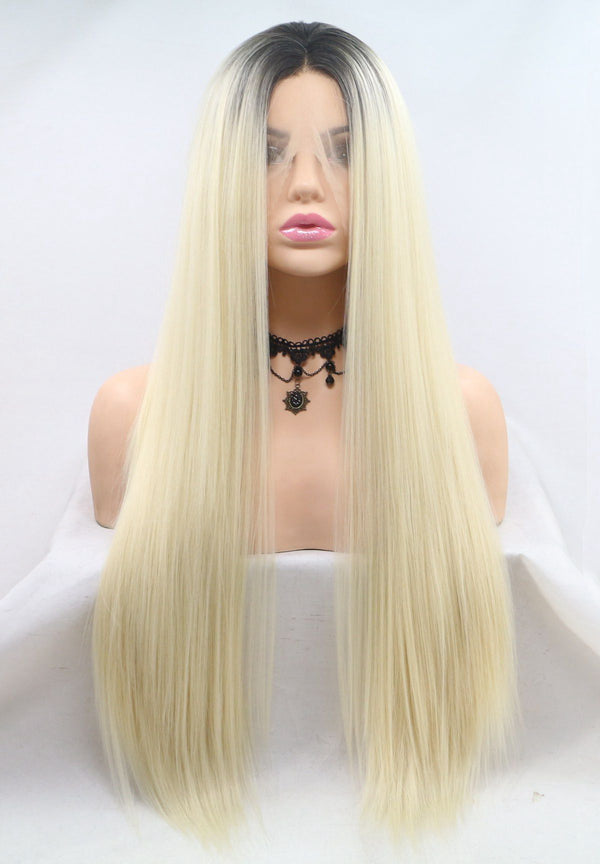 Blonde Two Tone Wig Straight Hair USW023