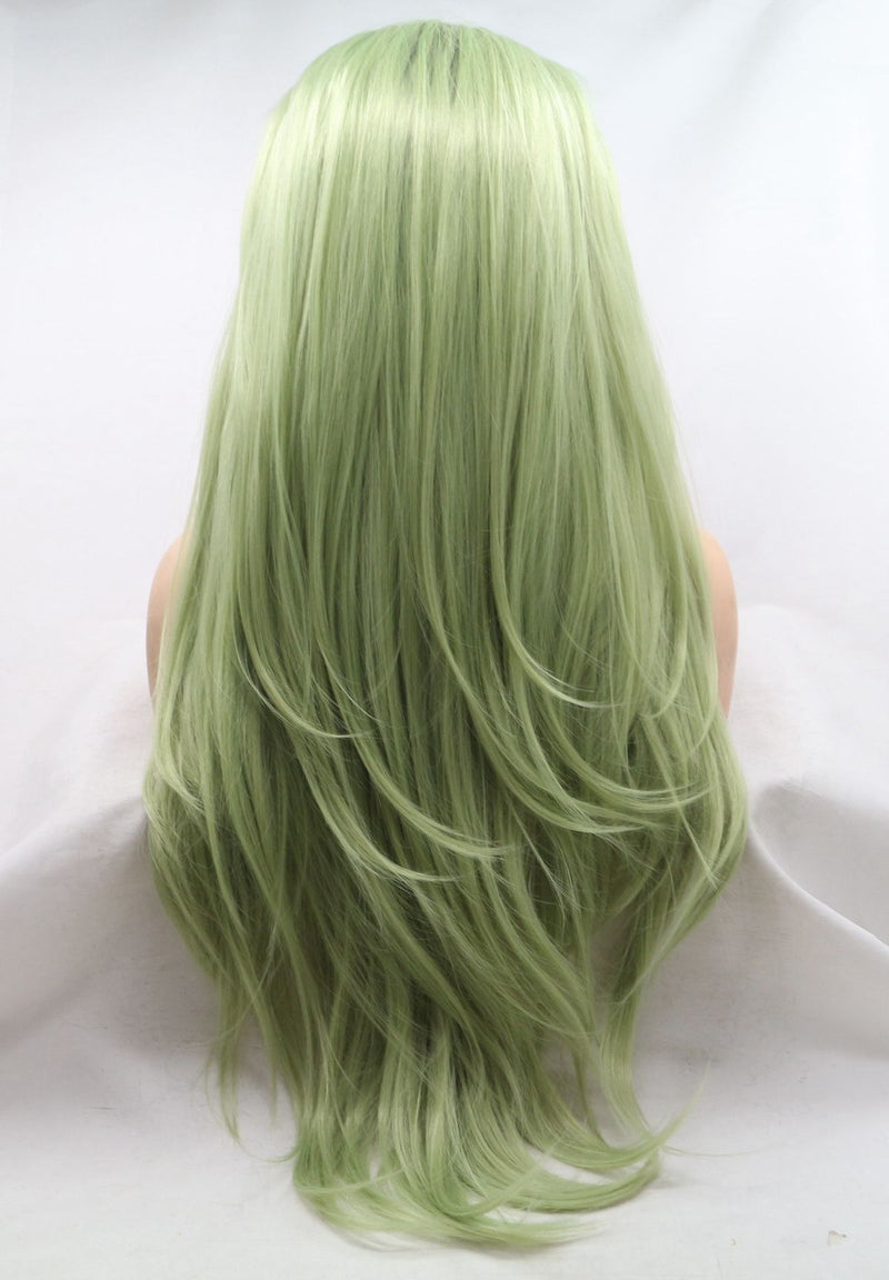 Avocado Green Straight Lace Front Wig USW105