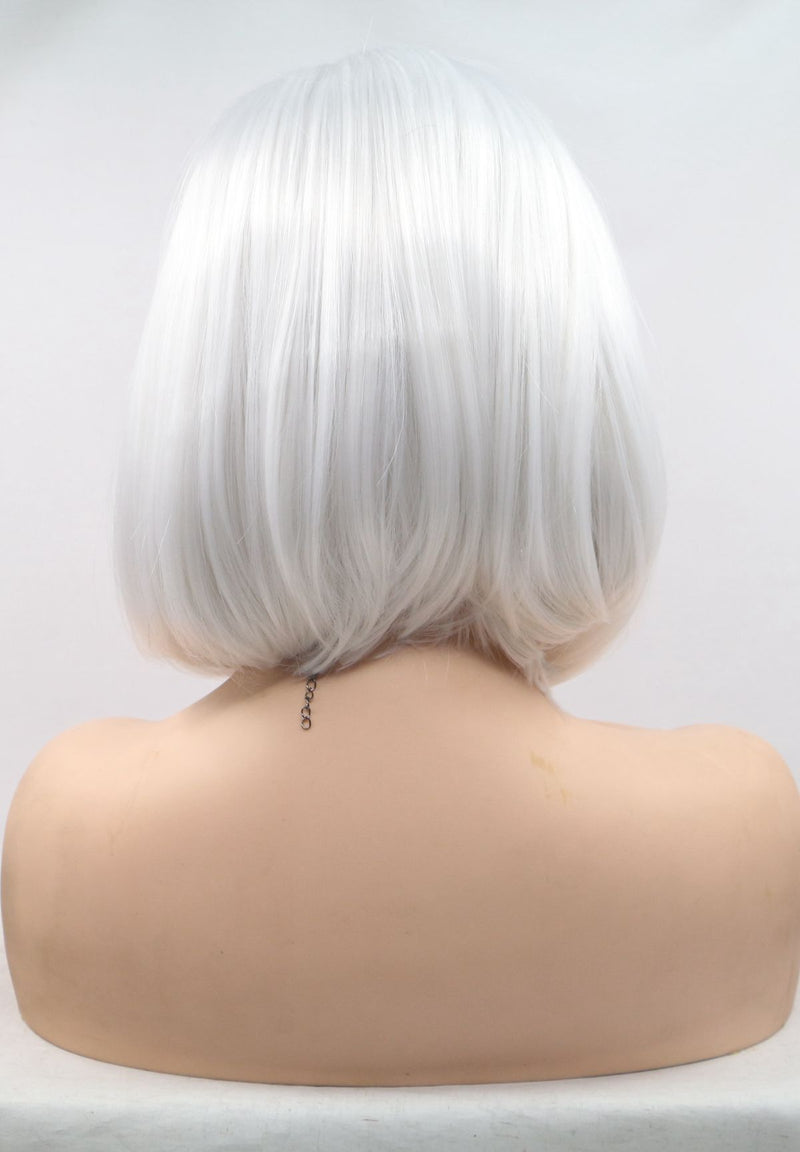 Short White Bob Wig For Cosplay USW104