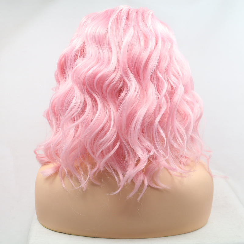 Honey Pink Short Wavy Wig USW043