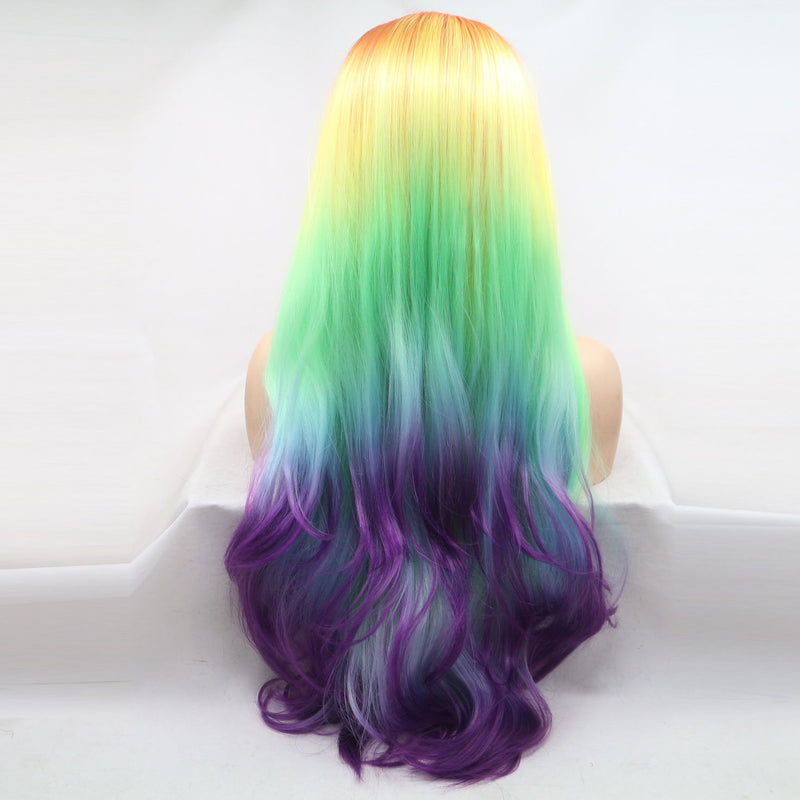 Rainbow Synthetic Lace Front Wig USW077
