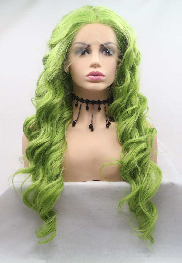 Green KANEKALON Synthetic Wig USW126