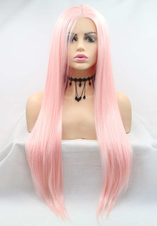Rose Pink KANEKALON Synthetic Wig USW129