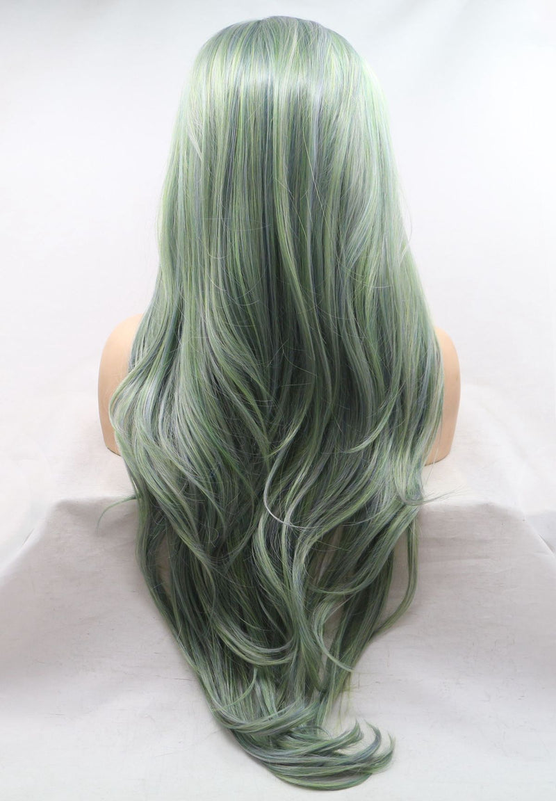 Avocado Long Wavy Kanekalon Wig USW117