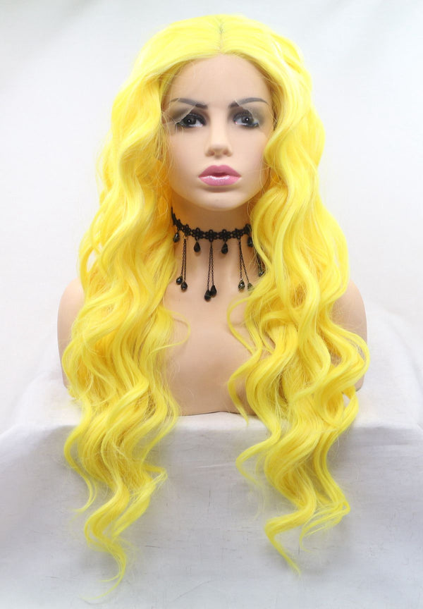 Lemon Hair Curly Kanekalon Wig USW116