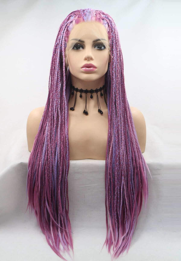 Uself synthetic braided wig